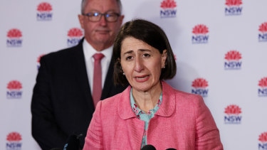 NSW Premier Gladys Berejiklian and NSW Health Minister Brad Hazzard.