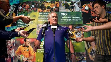 Making waves: Scott Johnson's aggressive recruitment drive is raising hackles among some of Australia's Test rugby rivals.