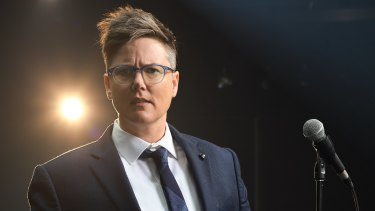 "Comedian Hannah Gadsby says after doing a show like Nanette, ""nerves don't come into it."""