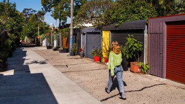 A Darlinghurst lane limited to local traffic and turned into a shared public space.