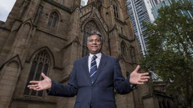 Anglican Dean of Sydney Kanishka Raffel has been filming the Easter services at St Andrew's Cathedral.