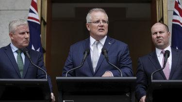 Scott Morrison announces $2 billion for the fire relief effort in Canberra on Monday.