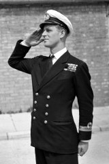 Lieutenant Philip Mountbatten, husband of then princess Elizabeth resumes his attendance at the Royal Naval Officers' School at Kingsmoor in Hawthorn, Wiltshire, in 1947.