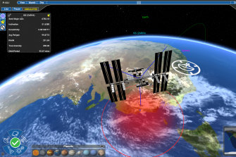 Saber Astronautics' visualisation of low-Earth orbit. The Sydney-based company recently participated in joint exercises with the US Air Force.