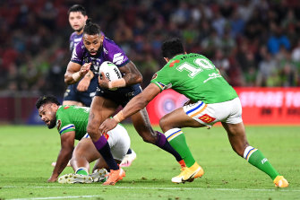 Josh Addo-Carr carved up the Raiders early in the match.