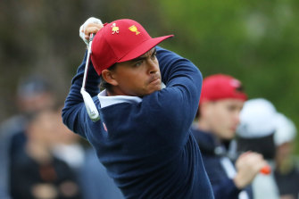 Rickie Fowler says the US team will press pause on partying until the Presidents Cup is retained.