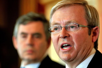 "Former Australian prime minister Kevin Rudd says Gordon Brown's account of the climate talks is an ""urban myth""."