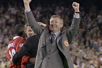 The impossible dream: The moment Alex Ferguson, manager of Manchester United, realised his team had snatched victory from the jaws of defeat in the 1999 Champions League final against Bayern Munich