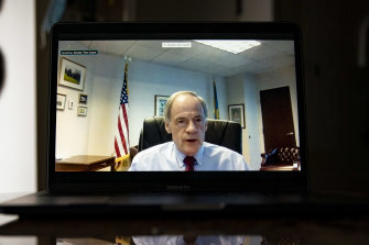 Senator Tom Carper experienced some technical issues during the virtual hearing.