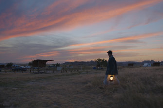 The nomadic life can be liberating: McDormand in a scene from <i>Nomadland<i>.