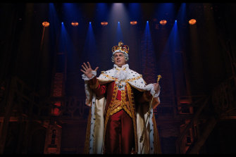 Johnathan Groff in his show-stealing performance as King George III.