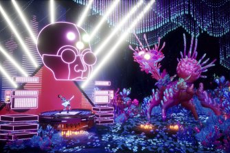 The Artful Escape is an interdimensional journey to find a new stage persona.
