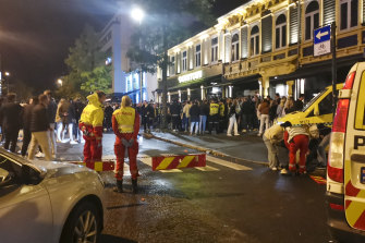 An ambulance is called once reopening celebrations in Trondheim got out of hand.