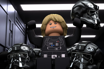 A scene from the Halloween episode of Lego Star Wars Terrifying Tales