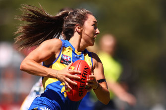 Niamh Kelly was one of two goal kickers for West Coast in their Loss to Adelaide.