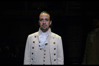 The film version of Hamilton (pictured is Lin-Manuel Miranda in the lead role) has people trying to separate fact and fiction.