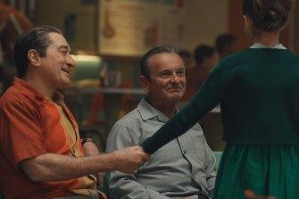 Robert De Niro, as mobster Frank Sheeran, with Joe Pesci in Martin Scorsese's The Irishman.