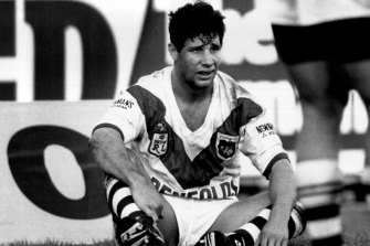 Former St George Illawarra captain, Queensland hero and Australian representative Mark Coyne in 1994.