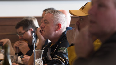 Tough to watch: Fans take in the Brumbies-Jaguares match in Canberra.