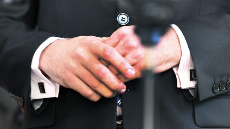 "LNP MP Jarrod Bleijie's ""F"" and ""U"" cufflinks caused a stir during estimates hearings."