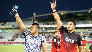 Allan and Mike Alaalatoa will go head to head at scrum time on Saturday.