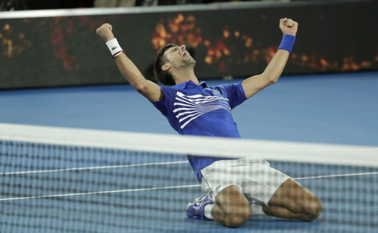 Novak Djokovic at the time of the win at Australian Open.