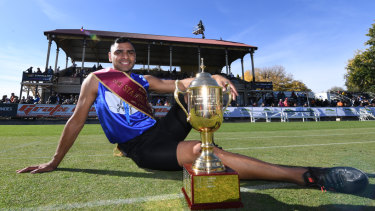 Dhruv Rodrigues-Chico with his trophy.
