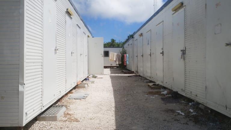 Inside the refugee settlements on Nauru in September 2017.