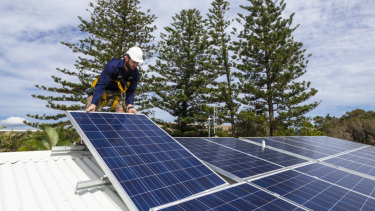 Queensland leads the nation in home solar panel uptake.