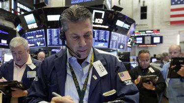 Wall Street is trading lower as investors assess the Turkey developments.