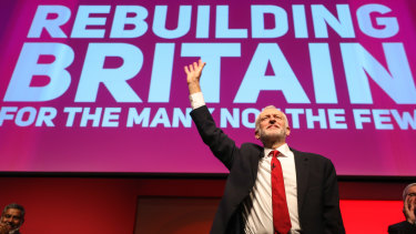 Corbyn made a pitch to voters in a rapturously received speech.