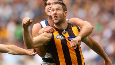 Hawthorn's James Frawley hasn't played for 10 months.