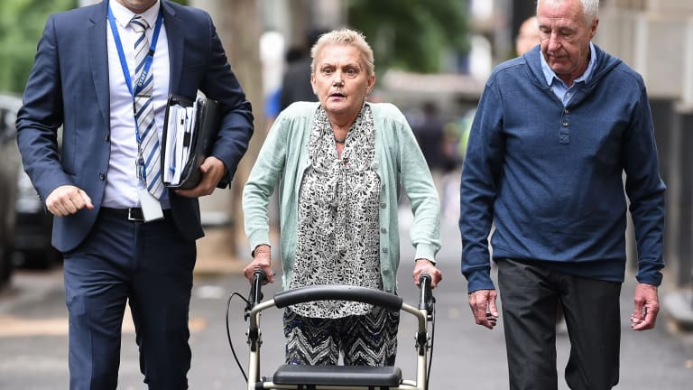 Kylie Maybury's mother,  Julie Ryan arriving at the Supreme court for an earlier hearing.