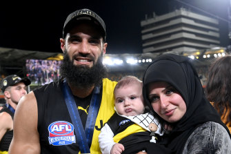Bachar Houli celebrates with his family.