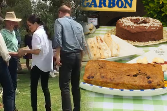 Meghan's cake goes down a treat in country NSW