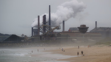 The steelworks and coal loading facility at Port Kembla. Australia learned this week its coal and gas exports will be hit by Japan's plans to almost halve its use of the fossil fuels by 2030.