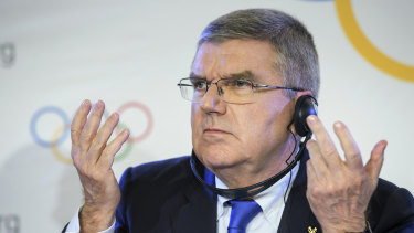 IOC president Thomas Bach visited Brisbane and the Gold Coast to inspect potential Olympics facilities.