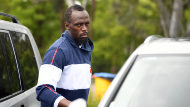 On trial: Usain Bolt turned down an offer to play in Malta to remain in Australia.
