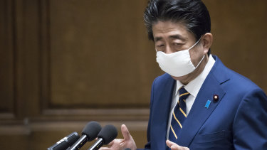 Last month, Prime Minister Shinzo Abe declared a nationwide state of emergency amid a rise in coronavirus infections. It remains in effect in big cities like Tokyo.