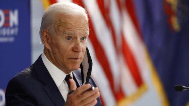 Democratic presidential candidate, former vice-president Joe Biden.