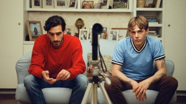 Gabriel D'Almeida Freitas and Xavier Dolan in Matthias and Maxime.