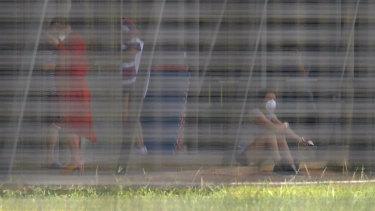 Australians quarantined at the Christmas Island quarantine facility.