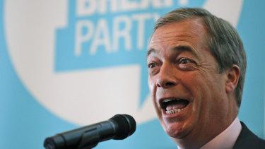 He's ready. Nigel Farage.