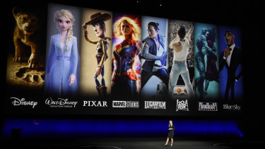 Disney+ is unveiled at CinemaCon 2019.
