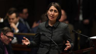 Gladys Berejiklian is not expected to speak during the debate on decriminialising abortion.