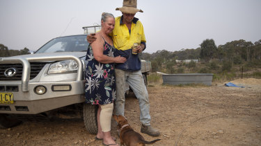 Mark and Vickey Chapman fear the Gospers Fire may hit their property at the weekend.