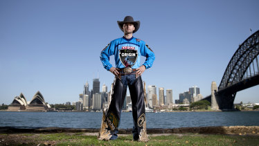 True blue: Troy Wilkinson will captain NSW in the PBR State of Origin event on Saturday.