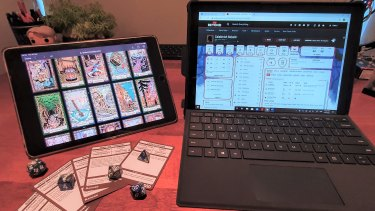 The group playing Dungeons & Dragons have gone virtual during the pandemic.