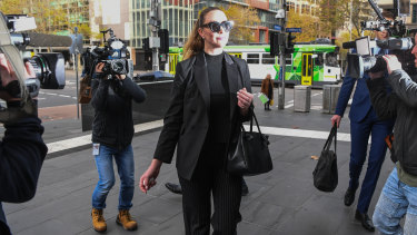Selina Holder arrives at court this week.
