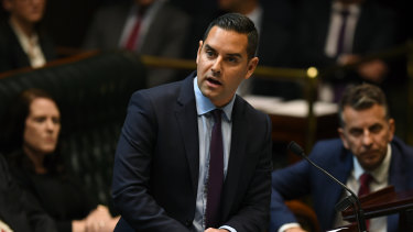 Sydney MP Alex Greenwich introduces the Reproductive Healthcare Reform Bill 2019 in the Legislative Assembly.